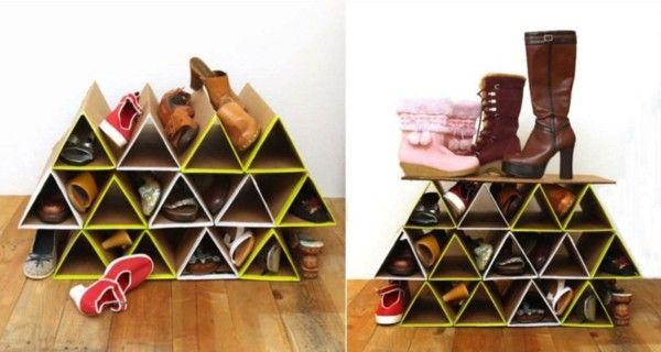 Shoe rack itself building idea cardboard triangles do it yourself shoe rack itself building idea cardboard triangles do it yourself solutioingenieria Choice Image