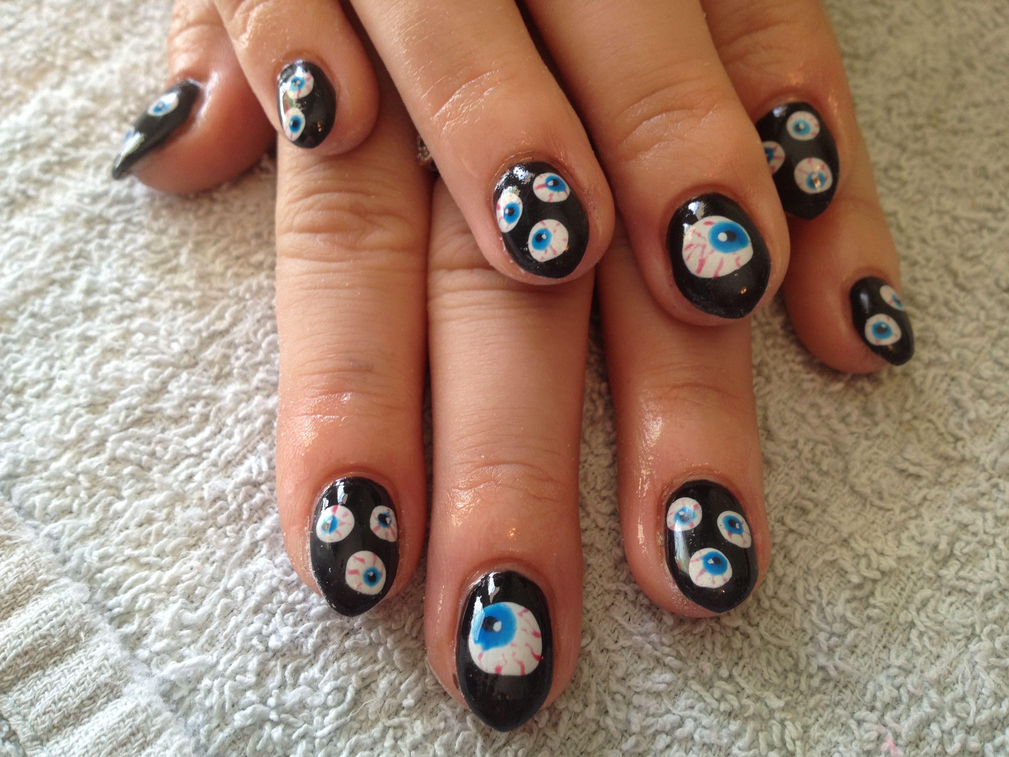 Eyeball nails   Halloween nails, Nail art, Nails