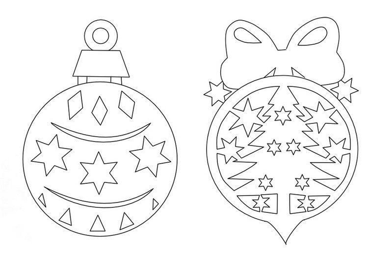 scherenschnitt vorlagen weihnachten christbaumkugeln #bastelideen ...