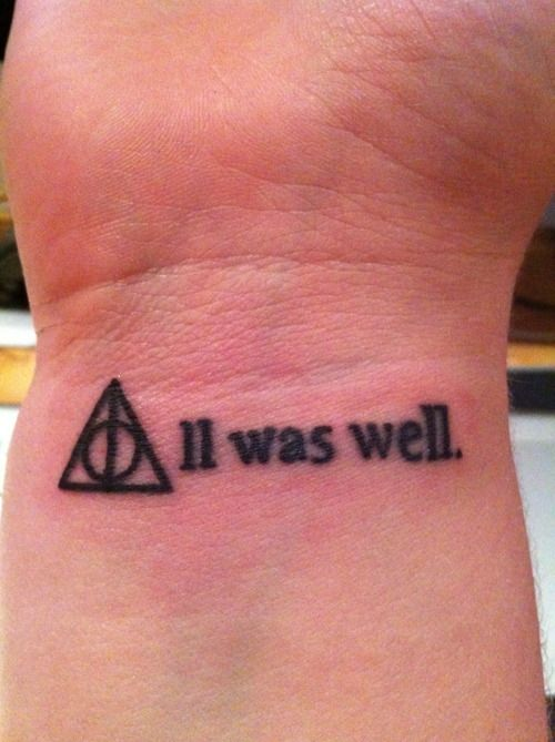 Wrist Symboltext All Was Well Love This Take On The Deathly