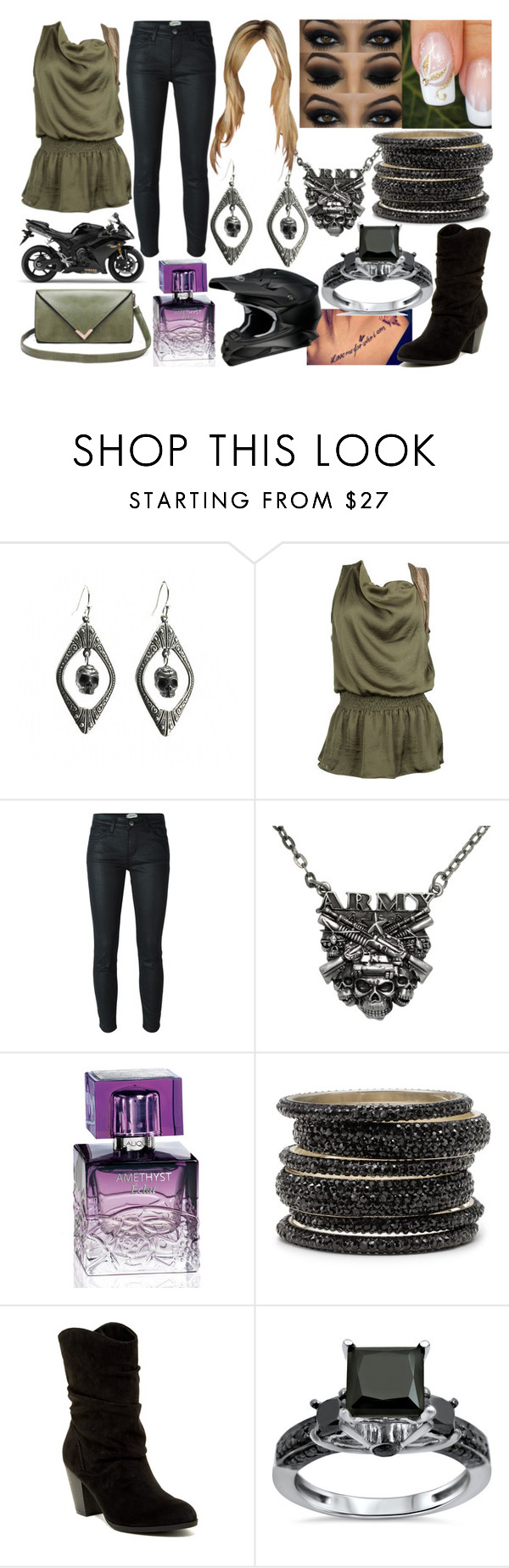 """""""Man Down"""" by lavonneb88 ❤ liked on Polyvore featuring mode, Metropark, Current/Elliott, Carolina Glamour Collection, Lalique et Indigo Road"""