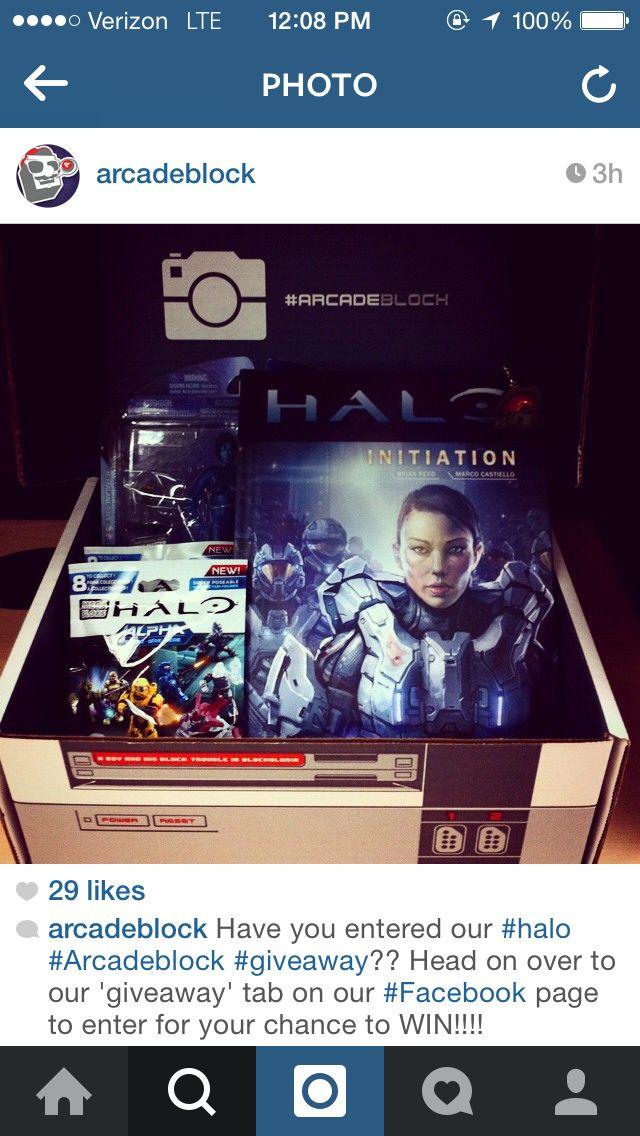 ArcadeBlock November #halo giveaway box!