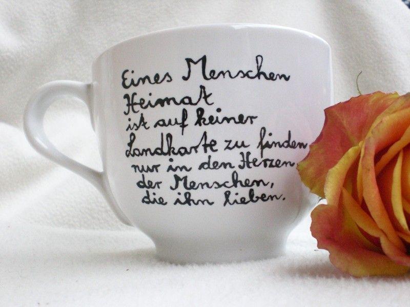 heimat sprüche Eines Menschen Heimat ♥♥♥ Tasse mit Spruch von   heimat sprüche