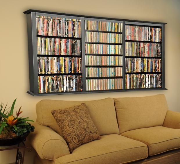 Delightful CD DVD Storage Triple Wall Mount Cabinet Cute Idea And Would Save Floor  Space. Holds Up To 480 Dvds Great Ideas