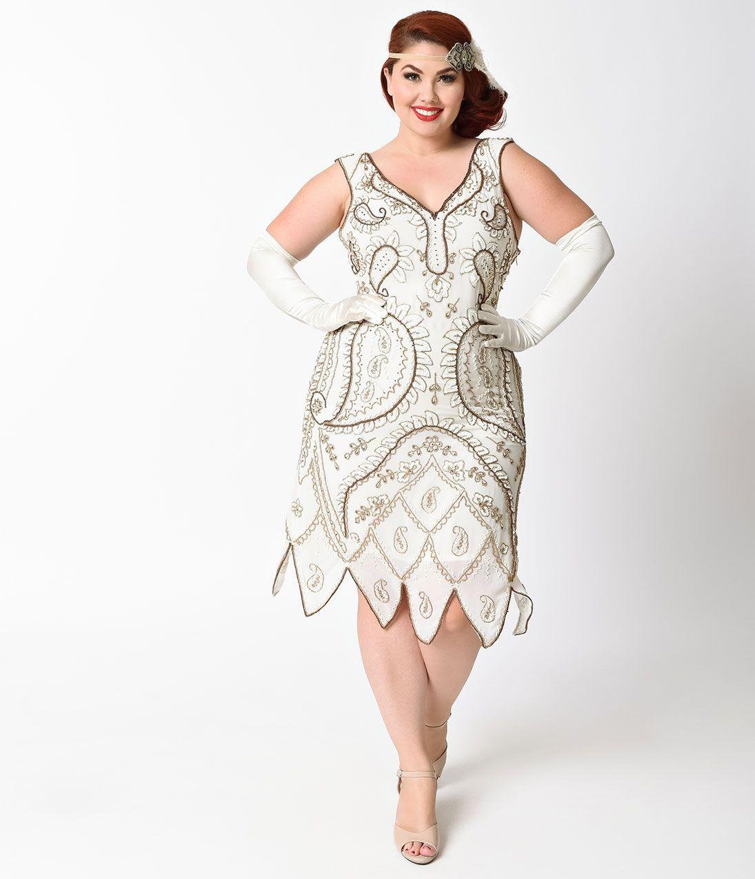 Google 20s style flapper dresses plus sizes