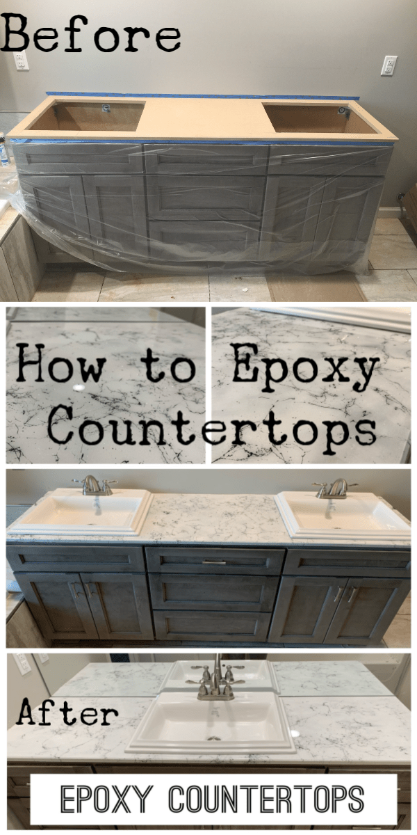 How to Faux Marble a countertop with Epoxy - Let's Paint Furniture!