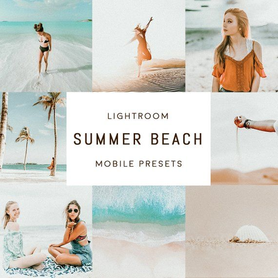Summer beach MOBILE Lightroom presets | Products | Lightroom
