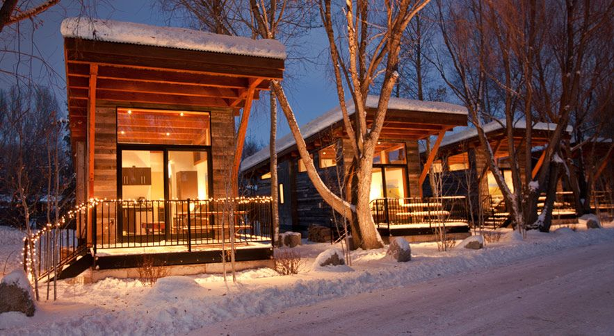 Nice Fireside Resort, Jackson Hole, WY Great Modern Cabins, Would Love To Stay  Here.