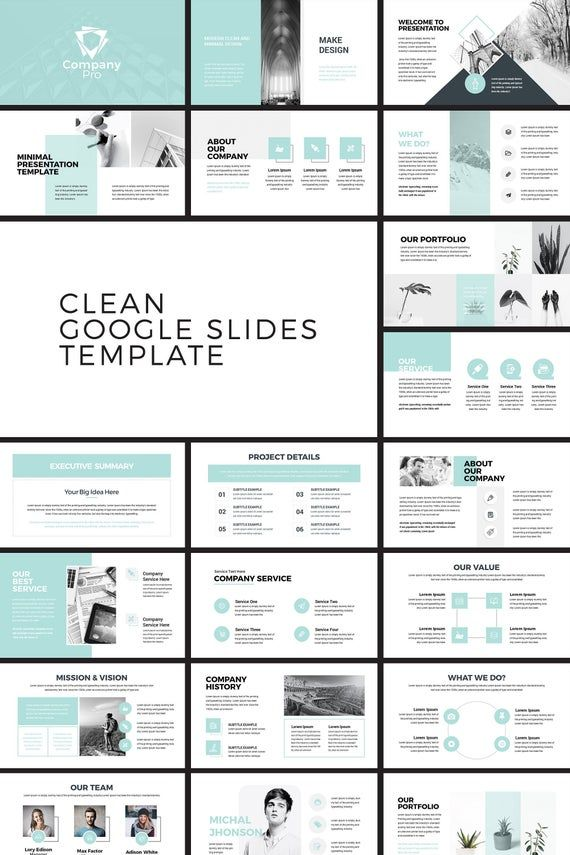 Company Pro Clean Business Google Slides Presentation Template
