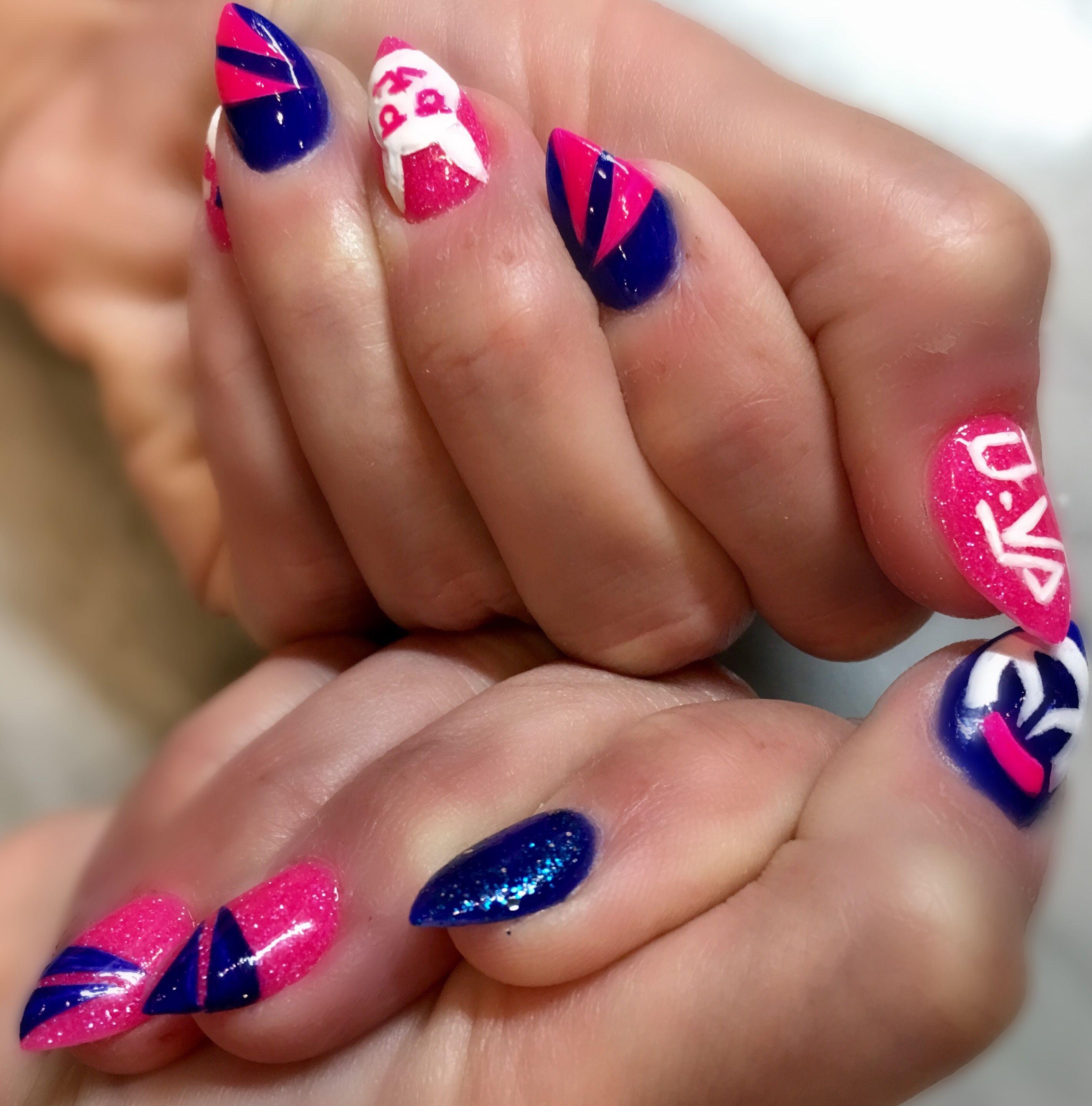 Overwatch nail art! #DVA #Overwatch #Nailart   Nails Nails Nails ...