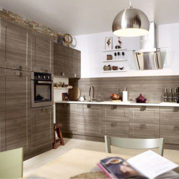 Meuble de cuisine décor chêne blanchi DELINIA Karrey Leroy - alno küchen trier