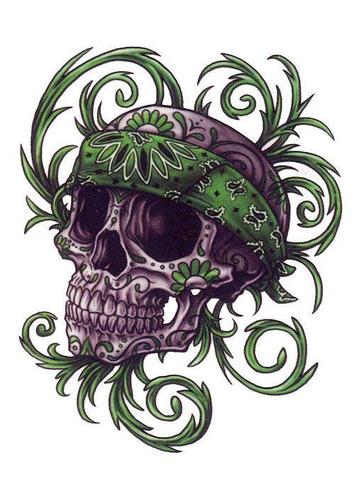 36 Latest Gangster Skull Tattoos Skull Artwork Animal Tattoos Skull Art