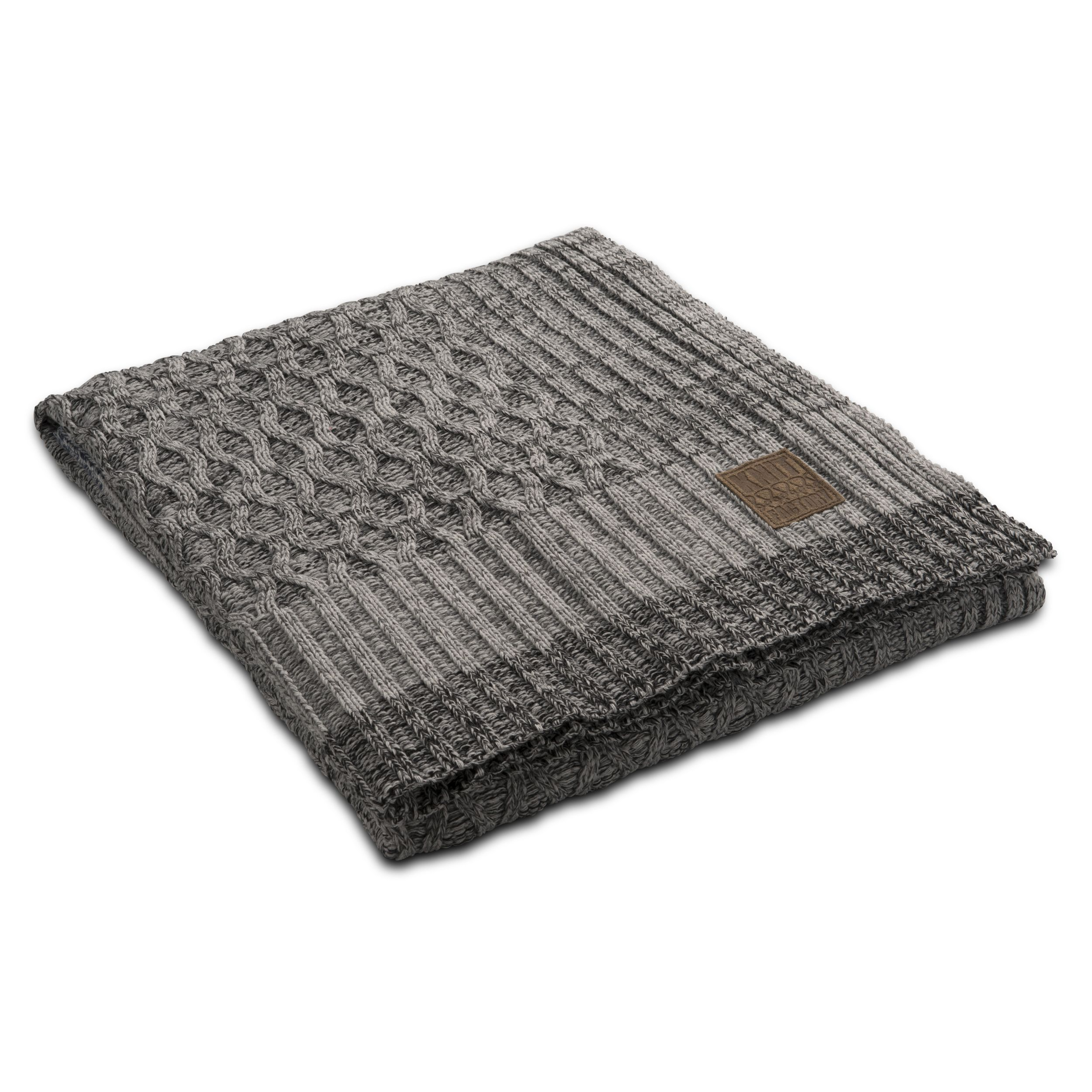 Plaid Trix light grey mele by Knit Factory www.knitfactory.nl