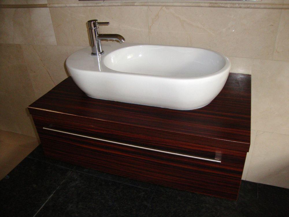Bathroom Sinks Ebay Uk cataland contemporary bathroom sink basin drawer unit wood effect