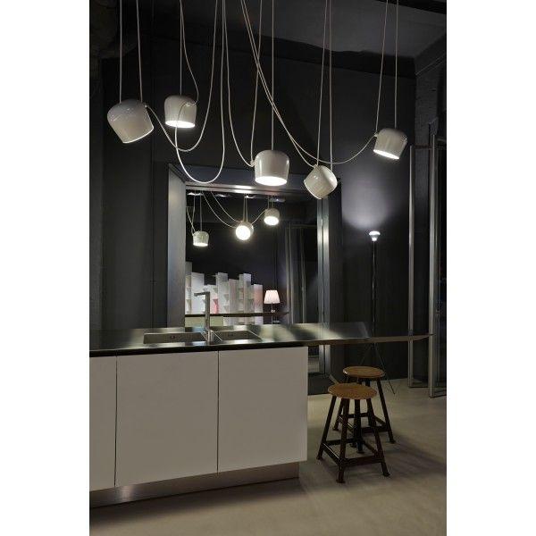 Flos Aim Pendelleuchte LED mit Stecker | Esstischleuchte, Leuchten ...