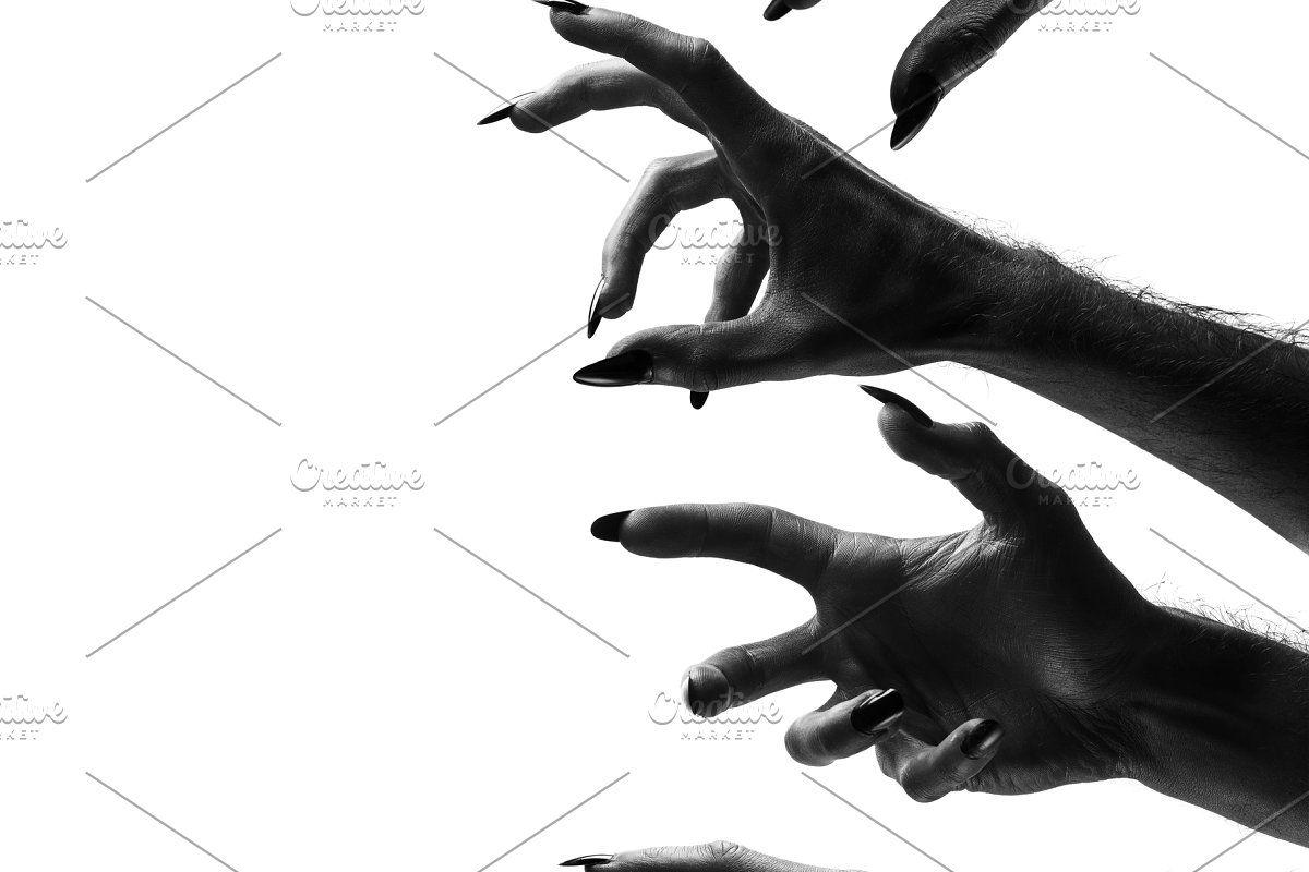 Bones Otf Font And Png Images Creepy Halloween Halloween Monster Monster Hands