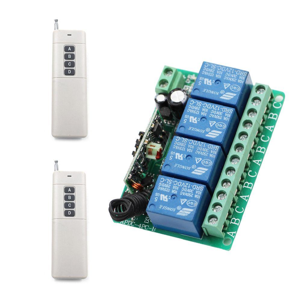 Wireless Remote Control Switch Receiver Water Pump Motor Controller Keymemoryinfraredremotecontrolreceivercircuit 10a Board High Power