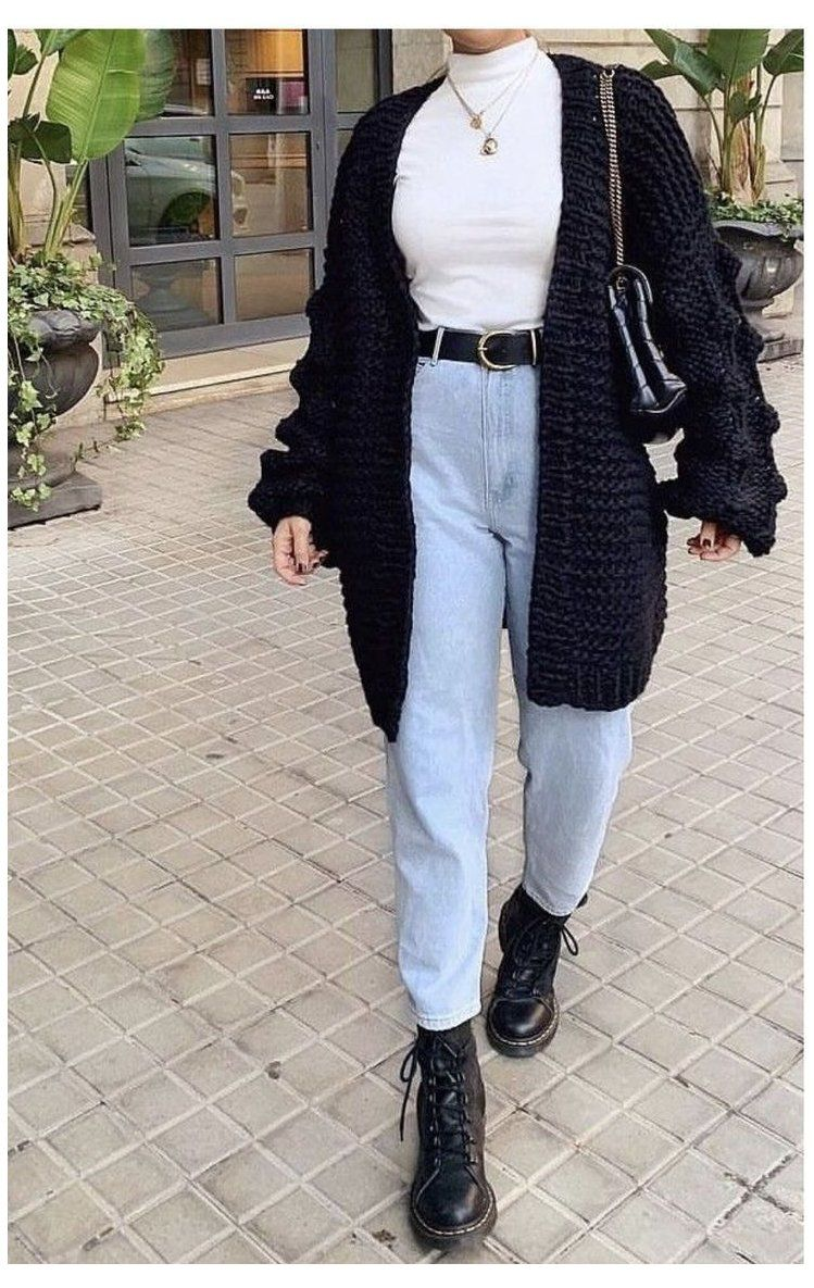 black ankle boots outfit winter jeans -   12 style 90s winter ideas