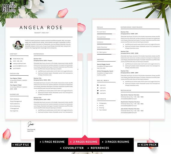 Resume Template Professional Cv Template For Word Us  Porfalios