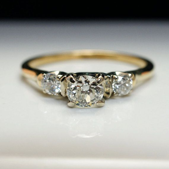 Wedding Ring Resize: Vintage .69cttw Art Deco Diamond Engagement Ring With 14k