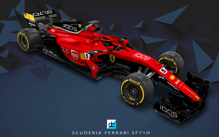 Download Wallpapers Ferrari Sf71h 4k 3d Art New Cockpit Protection Concept Formula One F1 Formula 1 2018 Halo Formula 1 Scuderia Ferrari 2018 Cars S Ferrari Formula 1 Car Formula One