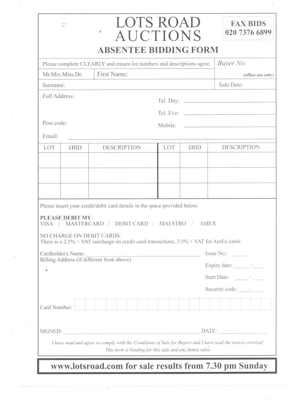 Bid Form Template Woltran – Bid Format