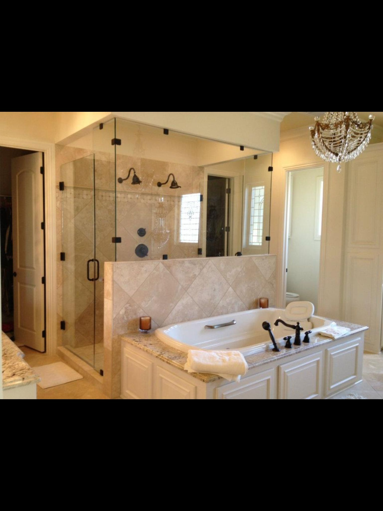 Bathtub Front Shower French Country Bathroom Dream Master Baths