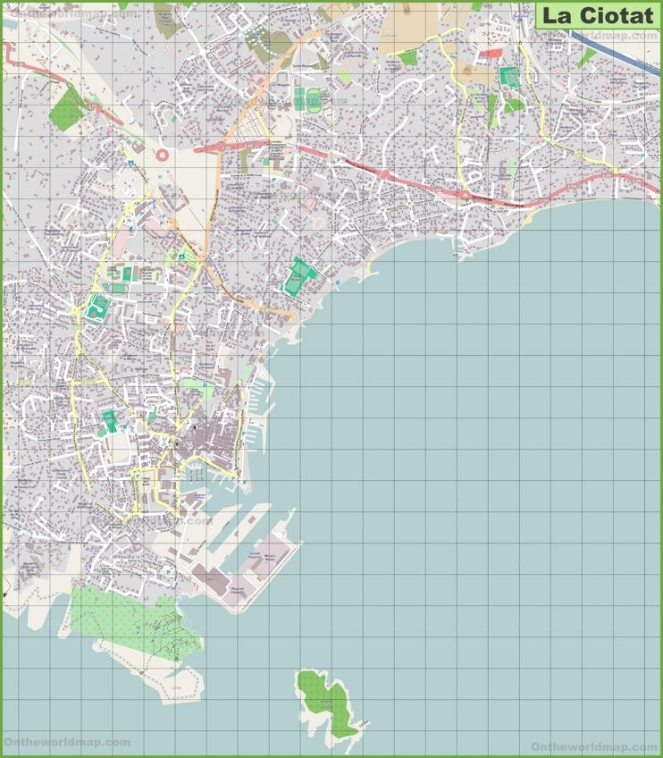 Large detailed map of La Ciotat Maps Pinterest France and City
