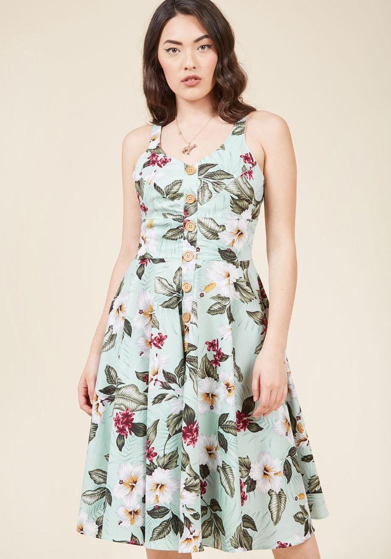 AdoreWe #ModCloth Hell Bunny Hell Bunny She\'s All Tiki Midi Dress in ...
