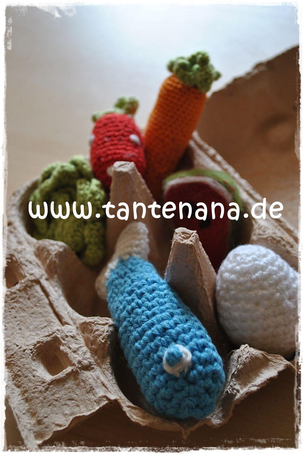 Kaufladenzubehör (gefilzt und gehäkelt) | crochet food patterns ...