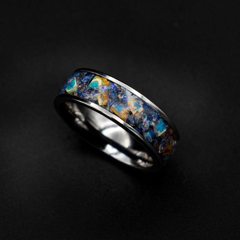 Australian opal ring rough opal ring opal ring men etsy