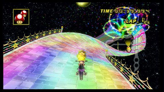 Then Now Mario Kart Wii Rainbow Road Mario Kart Mario Kart Wii