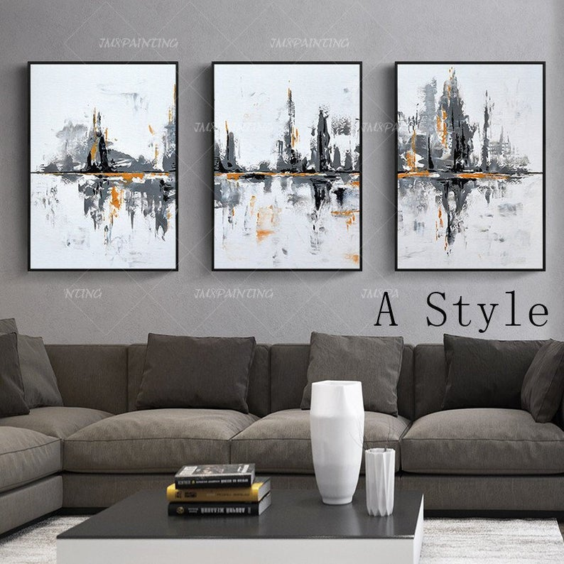 3 Pieces Wall Art Original Abstract Acrylic Paintings On Etsy 3 Piece Wall Art Abstract Painting Acrylic Wall Canvas