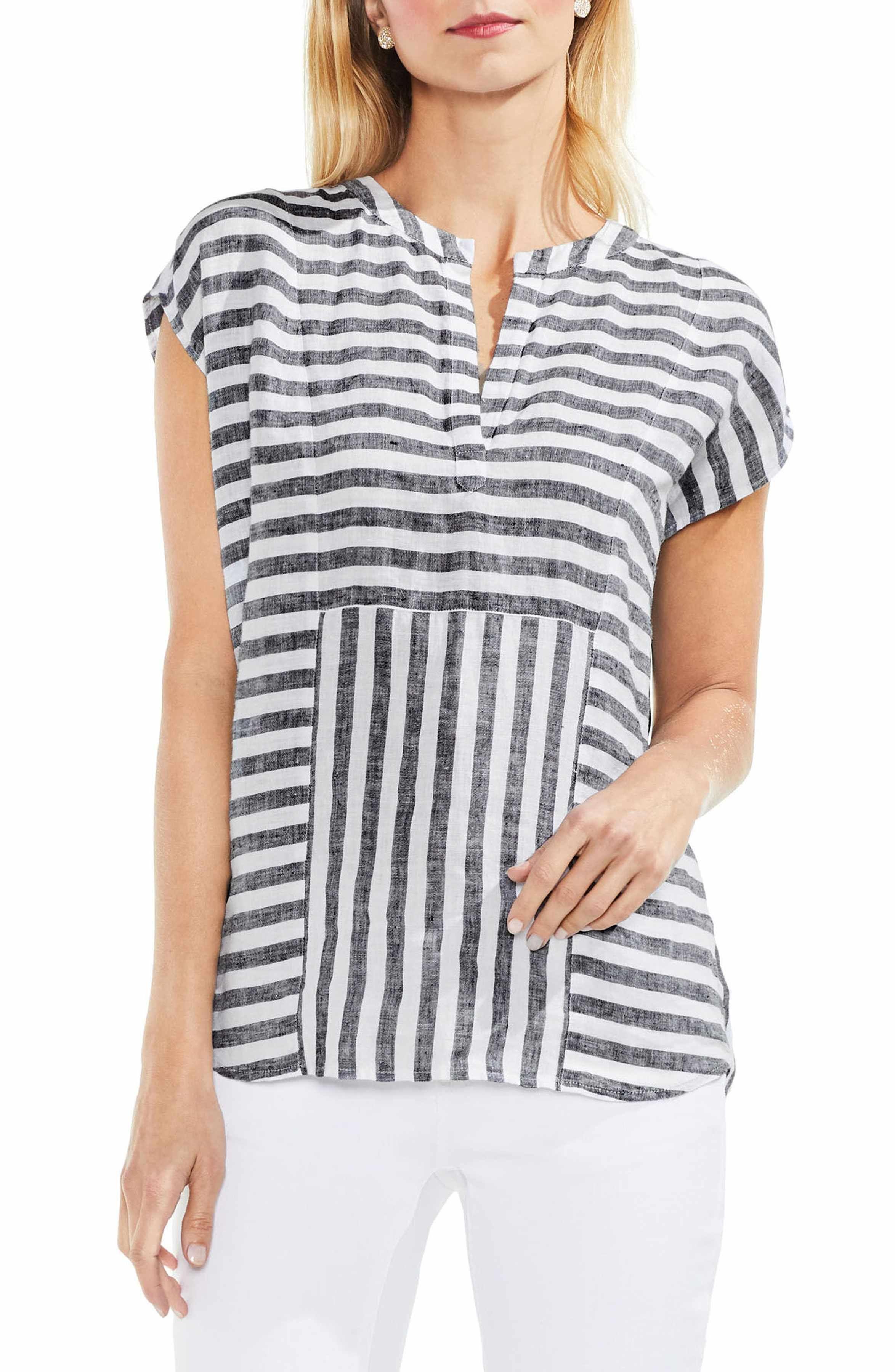 ab82ac7d06 Main Image - Vince Camuto Resort Stripe Linen Blouse