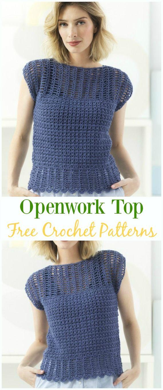 Crochet Openwork Top Free Pattern -Crochet Summer Top Free Patterns ...
