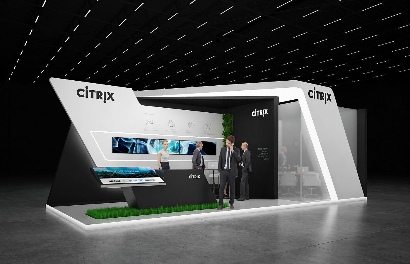D Exhibition Design Tutorial : Citrix exhibition stand on behance stands booths