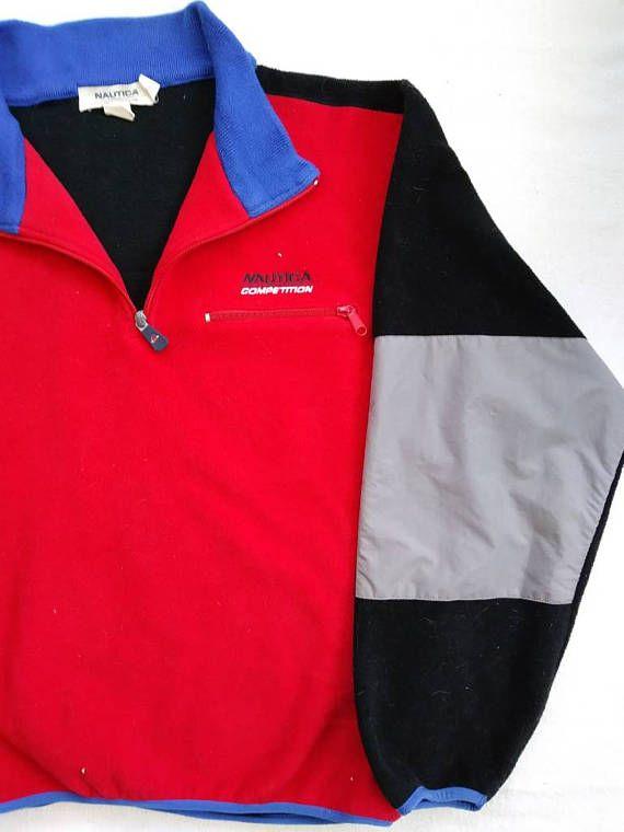 Rare Vintage Nautica Competition Fleece Jacket Vintage Nike Windbreaker Ralph Lauren Jackets Windbreaker Jacket