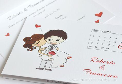 Partecipazioni Matrimonio Caricature.Wedding Invitation Card With Personalized Comic Style Graphics