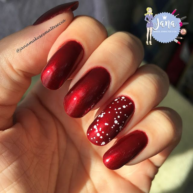 Jana Makes Esmaltes e Cia : ESMALTE DA VEZ: RED VELVET (LUXOR) + FLASH (COLORAMA)