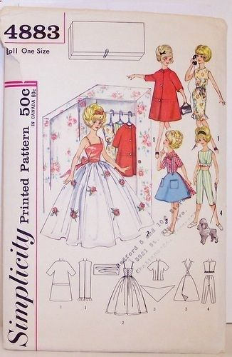 Free Printable Doll Clothes Patterns | Simplicity Pattern 4883 ...