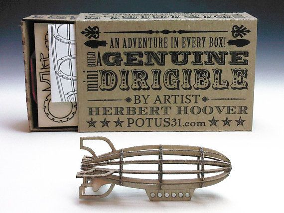 This is the CUTEST mini dirigible I've ever seen. Mini Dirigible Kit by Potus31 on Etsy $8.50