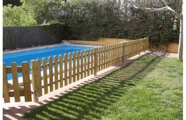 Resultado de imagen para cerco madera piletas pinterest madera piscinas y valla - Vallas de madera para piscinas ...