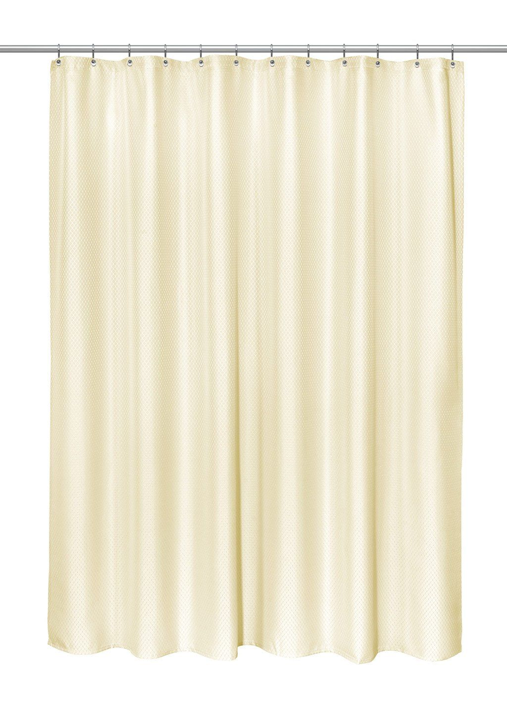"""Photo of Grace Jacquard Shower Curtain – 70"""" wide x 72"""" long / Ivory"""