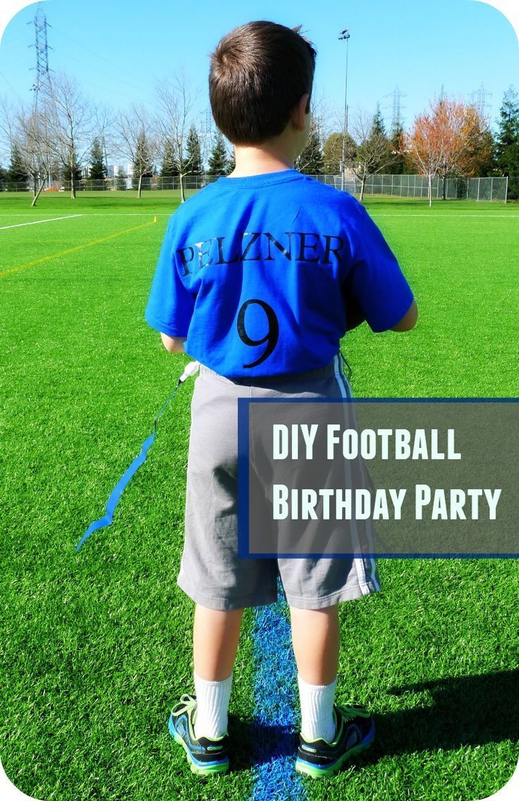An easy and frugal football themed birthday party!  So fun for boys of all ages!