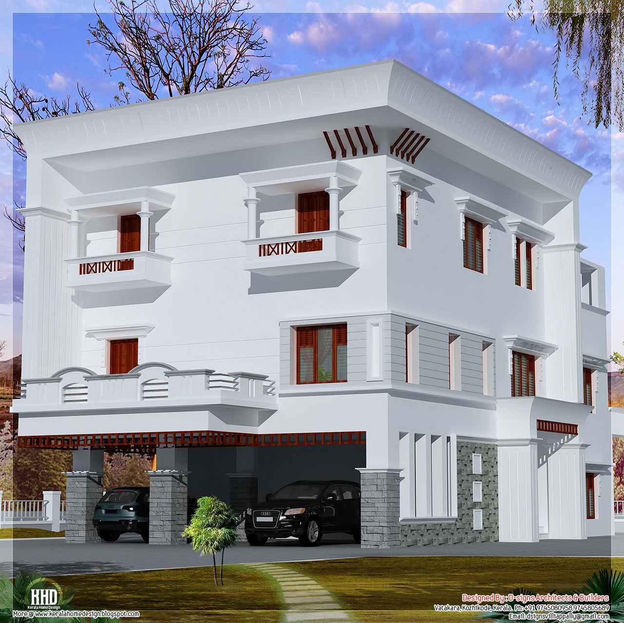 Storey flat roof home design house design plans roof design plans