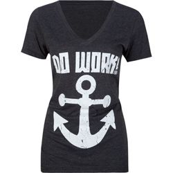 Click Image Above To Buy: Big Black Anchors Away Womens Tee
