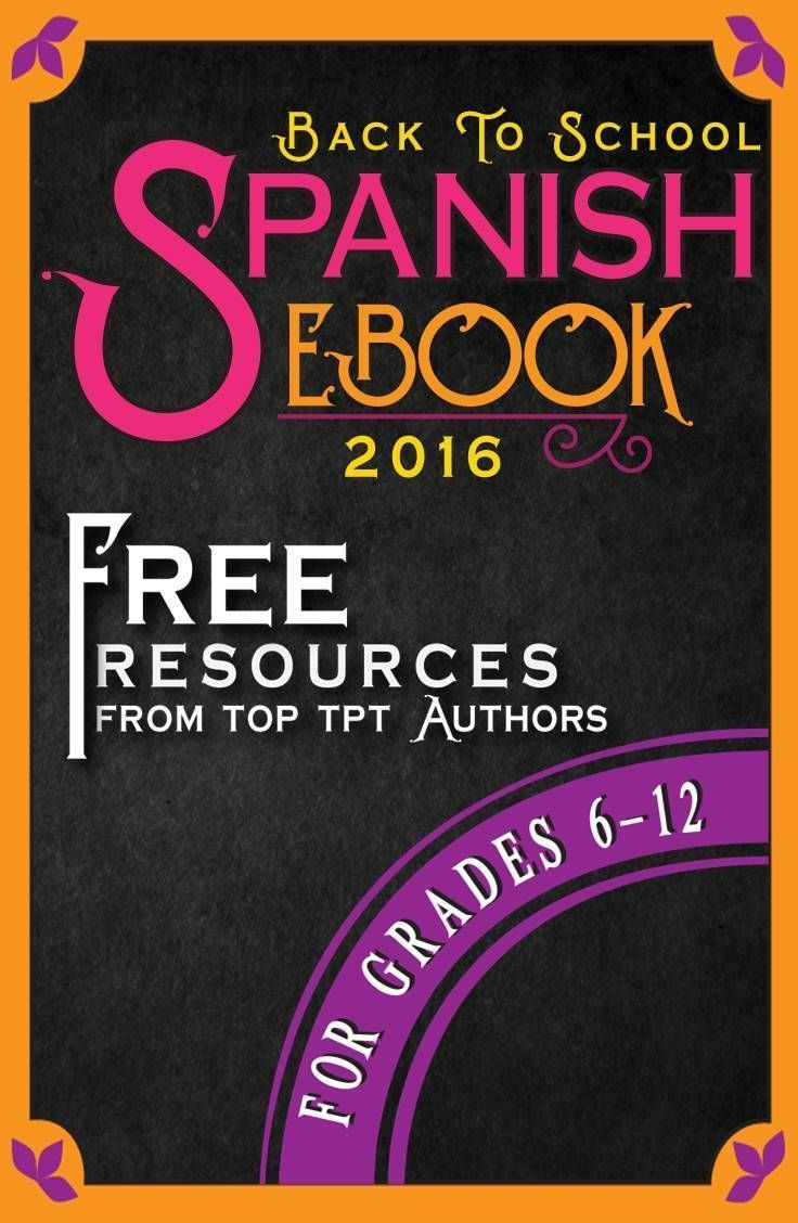 spanish back to school secondary ebook tips and free resources spanish resources learning. Black Bedroom Furniture Sets. Home Design Ideas