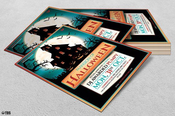 Halloween Flyer Template V20 by Thats Design Store on - halloween design
