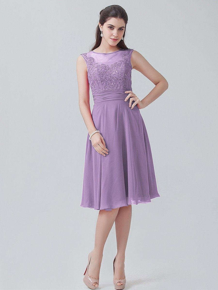 7b7cd8f09b4e4 Lace Chiffon Short Dress | Plus and Petite sizes available! Hundreds ...