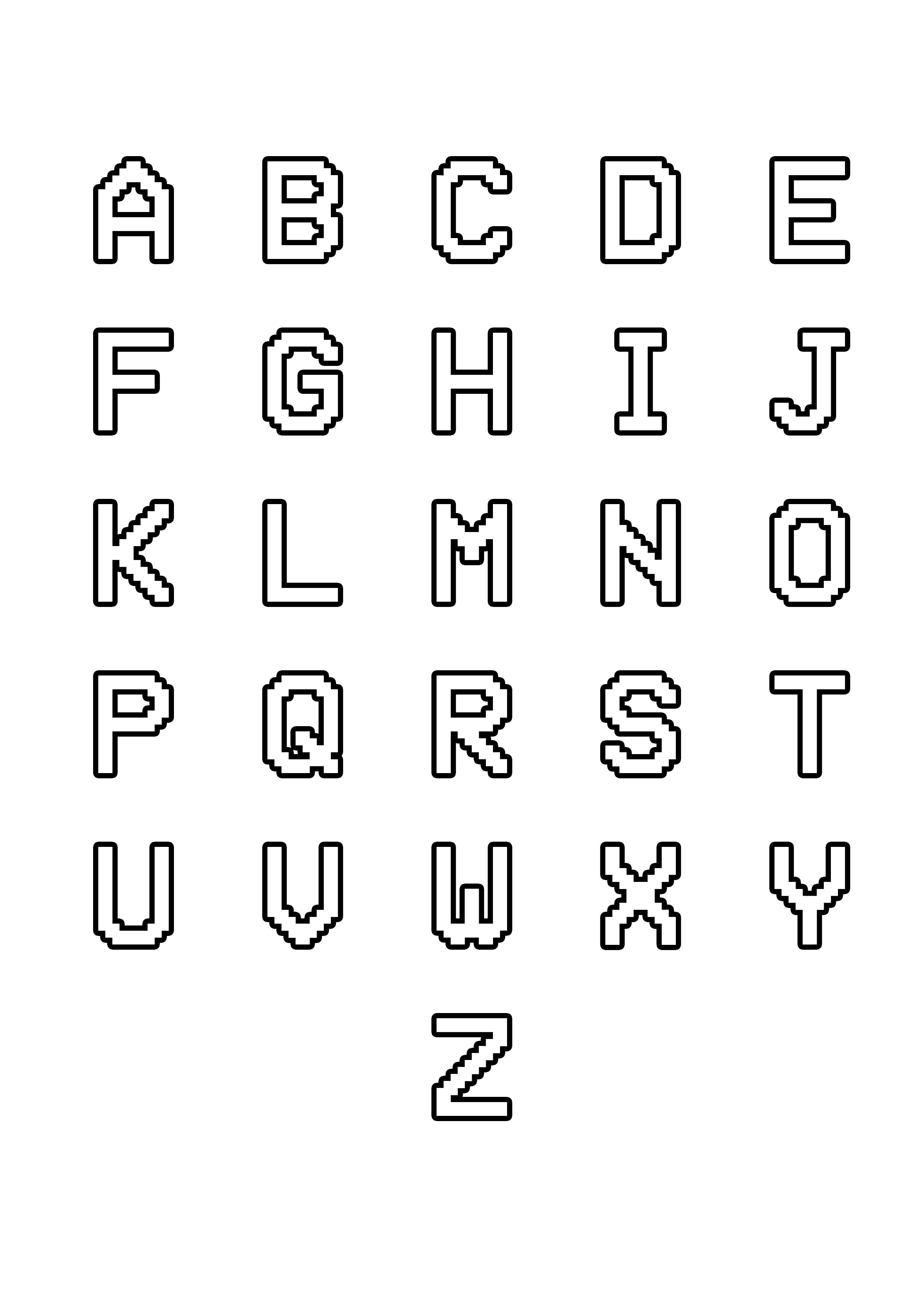 Coloring Page Simple Alphabet 12 From The Gallery Kids